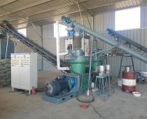 辽宁省东港市木屑颗粒生产线现场(视频)