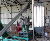 吉林省九站市松木、杂木颗粒生产现场