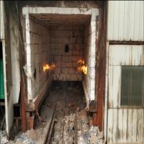 辽宁省某公司烧制锰钢燃烧机现场