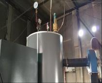 辽宁某公司生物质锅炉安装现场